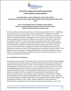 A Proactive Approach to Self-Assessment in the Juvenile Justice System Cover