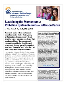 Sustaining the Momentum of Probation System Reform in Jefferson Parish Cover