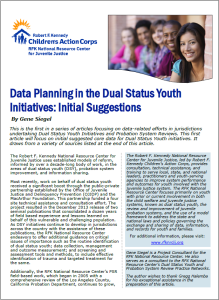 Data Planning in the DSY Initiatives Initial Suggestions Cover