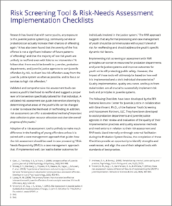 risk-screening-tool-risk-needs-assessment-implementation-checklists-cover